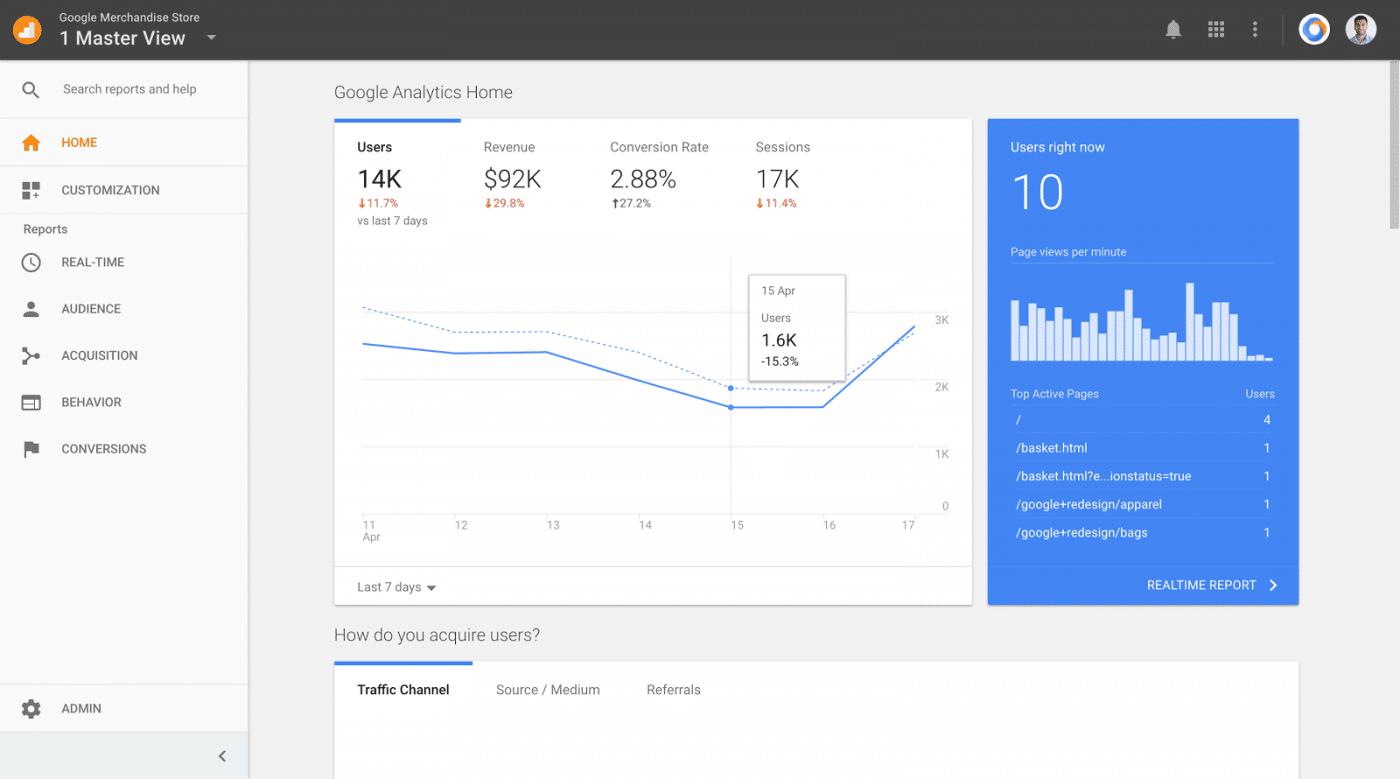 Google Analytics lance une nouvelle page d'accueil