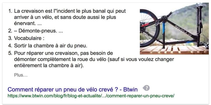 position 0 google répondre à une question
