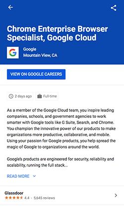 google for jobs publier une annonce