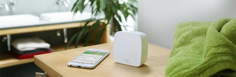 Apple Home Kit capteur analyse de l'air et taux d'humidité intérieur : eve room elgato
