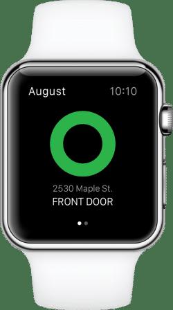 test serrure smart lock august apple watch