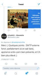 Alexandre YEPES o2switch avis