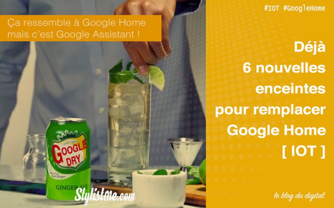 Google Assistant 6 nouvelles enceintes compatibles