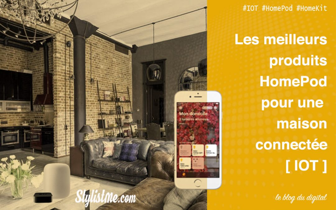 maison connect e homepod l 39 installation domotique id ale avec homekit. Black Bedroom Furniture Sets. Home Design Ideas