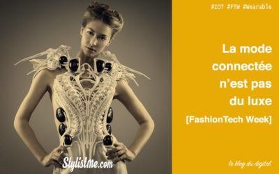 Vêtements connectés ne sont pas un luxe : FashionTech week Paris