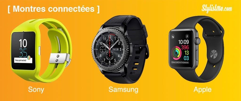 montres connectées Apple Samsung Sony