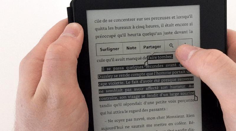 Amazon Kindle oasis sélection mot