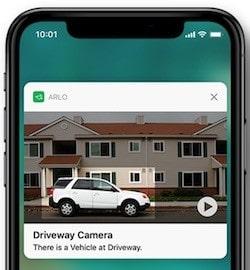 Caméra Arlo Pro détection de véhicule