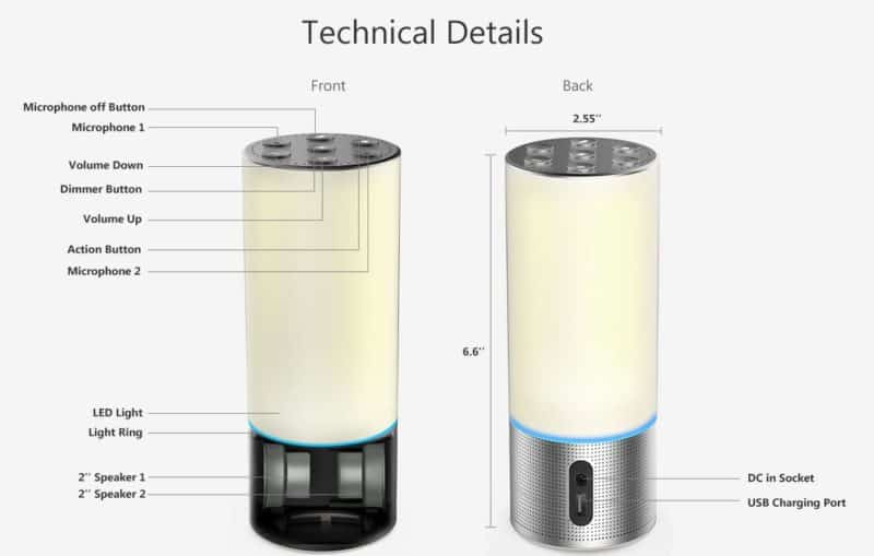 Adition Lamp Speaker Amazon Alexa