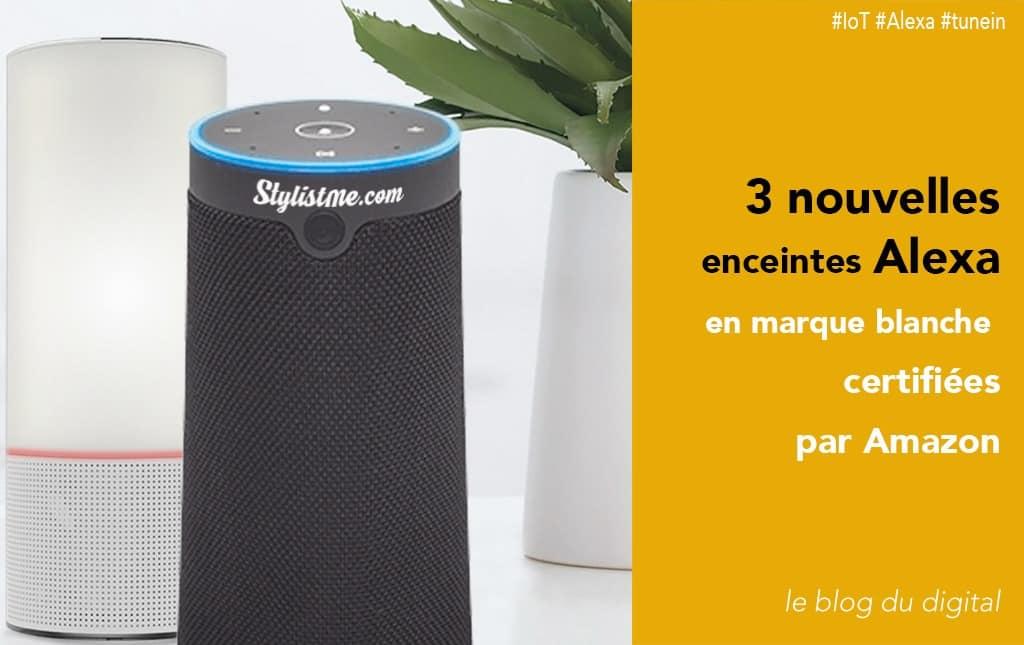 Amazon Alexa lance 3 enceintes en marque blanche