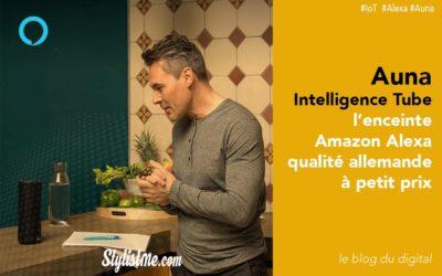 Auna Intelligence Tube test avis l'enceinte Amazon Alexa à petit prix