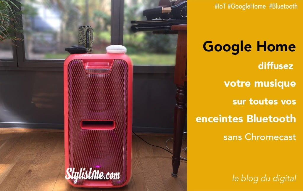 comment connecter une enceinte bluetooth google home. Black Bedroom Furniture Sets. Home Design Ideas