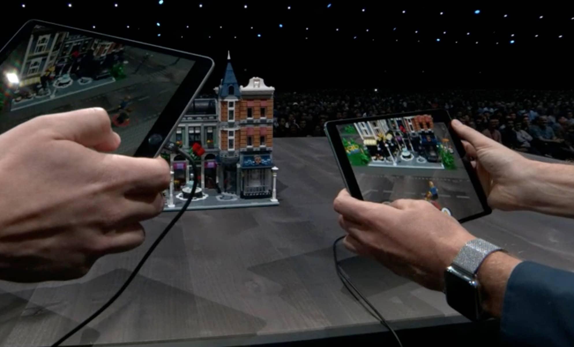 Keynote Apple 2018 WWDC Lego réalité augmenté