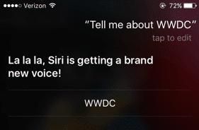 Keynote Apple 2018 WWDC nouvelle voix siri
