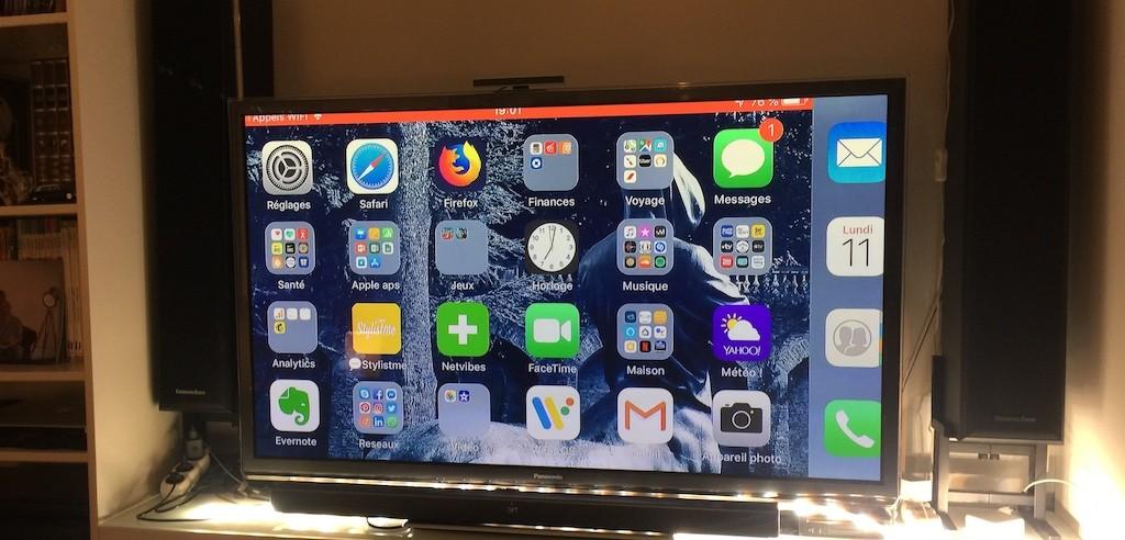 chromecast Google copier écran iphone
