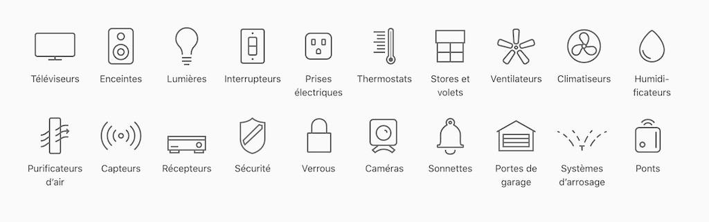 HomeKit HomePod tous les appareils compatibles