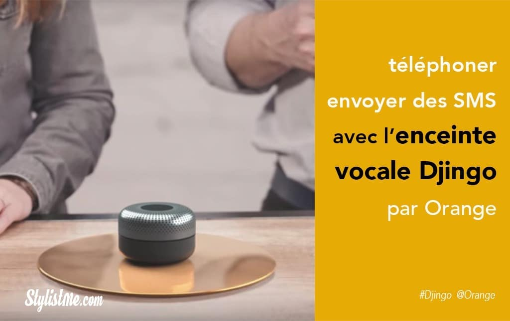 Djingo Orange l'assistant vocal enceinte connectée avis prix test