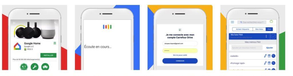Google Home Carrefour tuto paramétrage