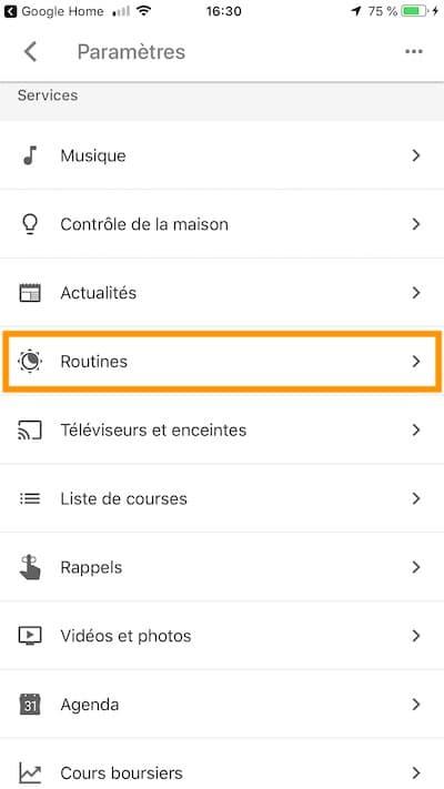 comment lancer google home routines acces