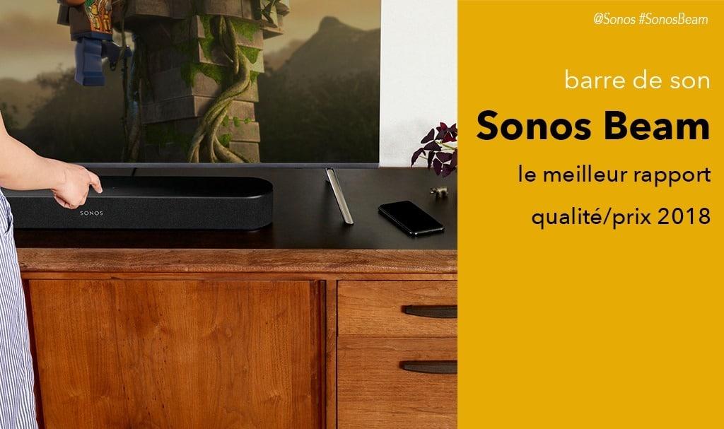 Sonos Beam test avis barre de son avec Alexa et Airplay