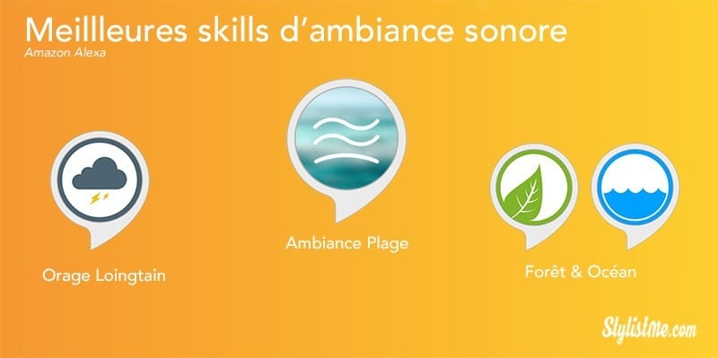 Meilleures skills Alexa ambiance sonore relaxation