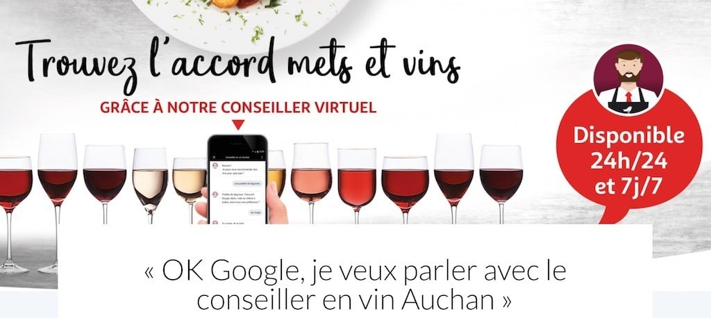 foire aux vins vin connecté Google Home