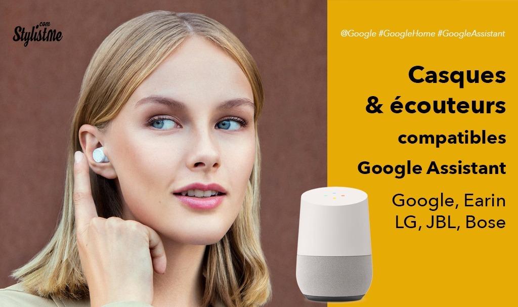 Casques audio, écouteurs et oreillettes compatibles Google Assistant