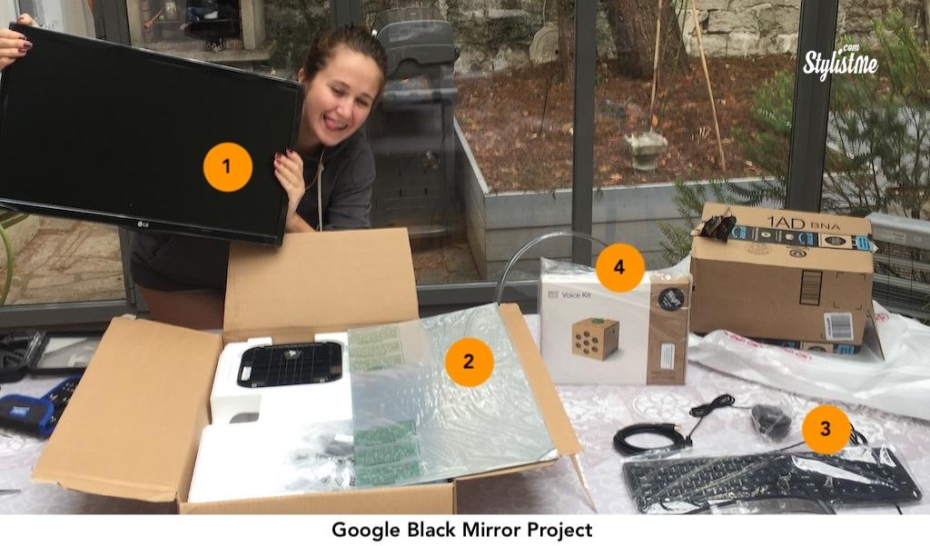 miroir connecté avec reconnaissance vocale