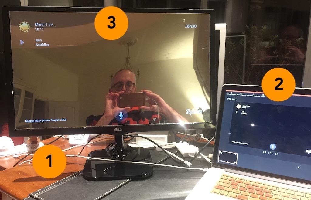 test écran LCD effet miroir