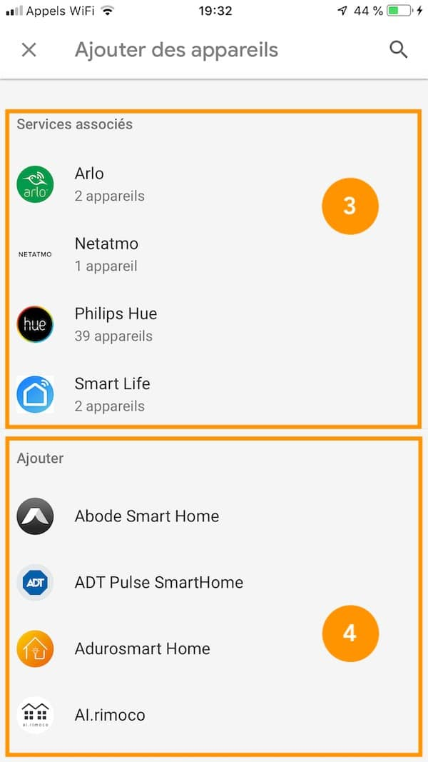 app google home liste appareil compatible
