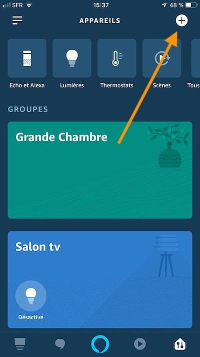 créer un groupe objets avec Alexa