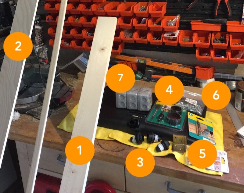 fabriquer cadre miroir connecté matériel