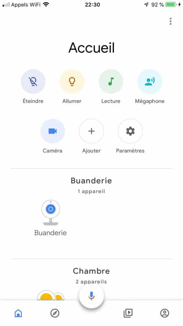 google home nouvelle application