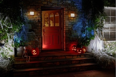 Halloween entrée éclairée Philips hue