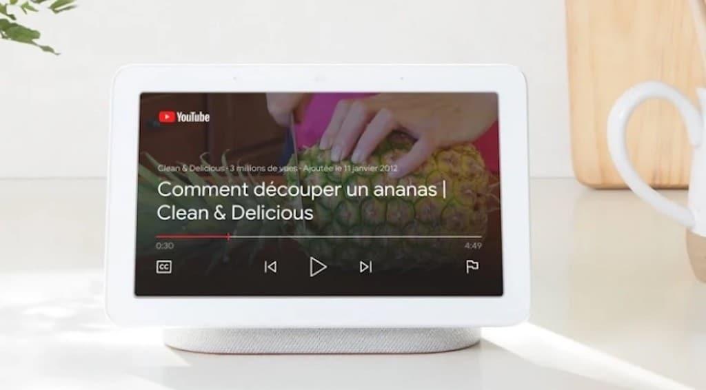 Nest Hub pour les recettes en vidéo