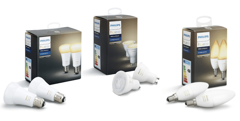 Philips Hue White Ambiance E27 E14 GU10 avis test