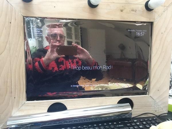 test film miroir sur écran LCD