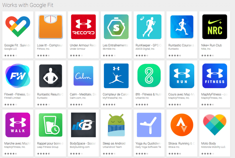 Emporio Armani connected 2018 app compatibles Google fit