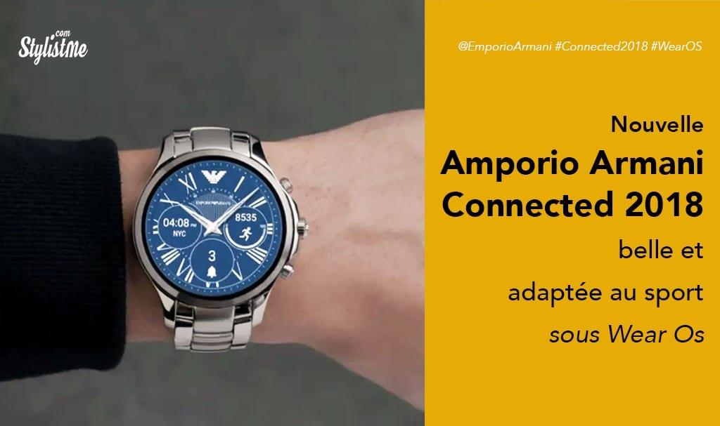 Emporio Armani connected 2018 prix avis test