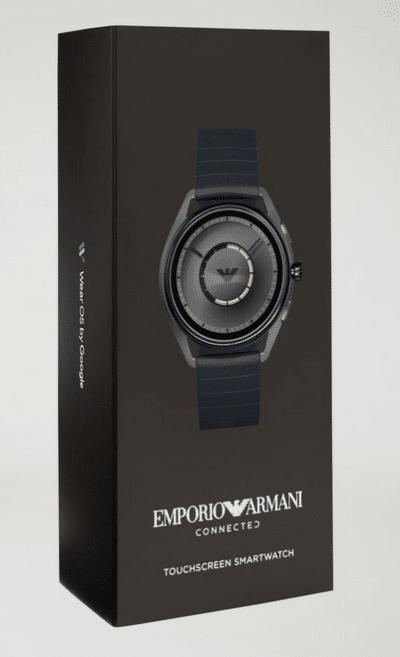 Emporio Armani connected 2018 prix test avis emballage