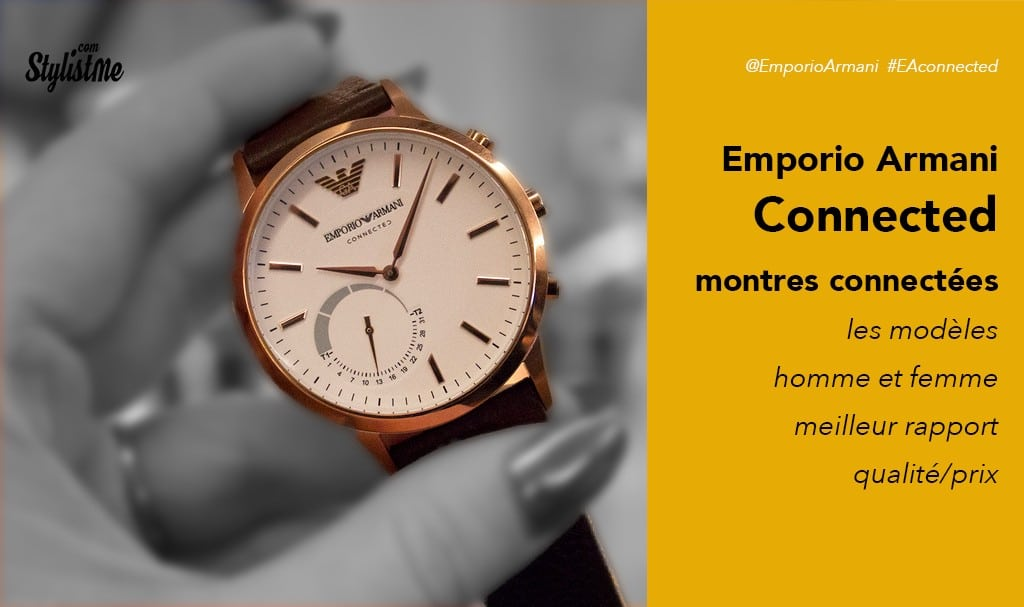 Emporio Armani connected avis test prix une montre connectée