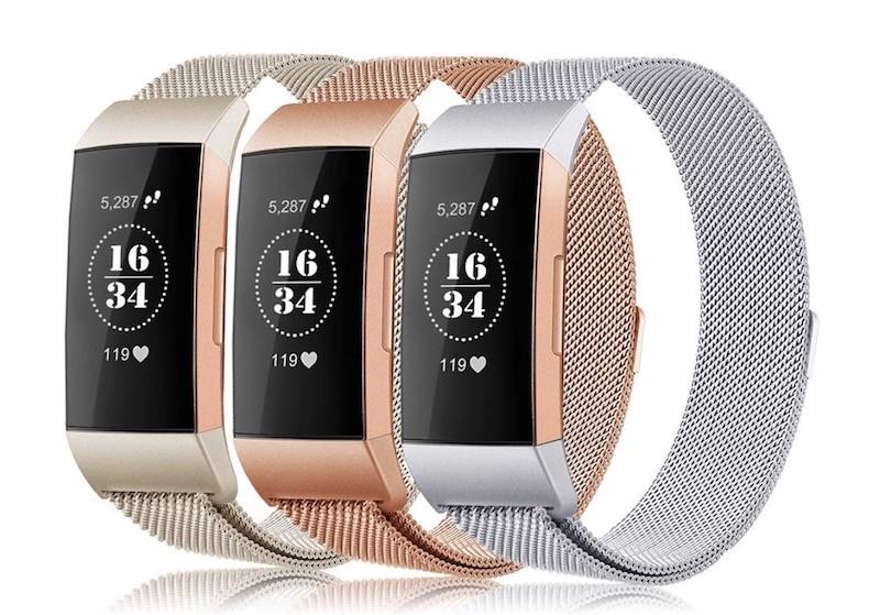 Fitbit charge 3 prix avis test bracelet maille milanaise