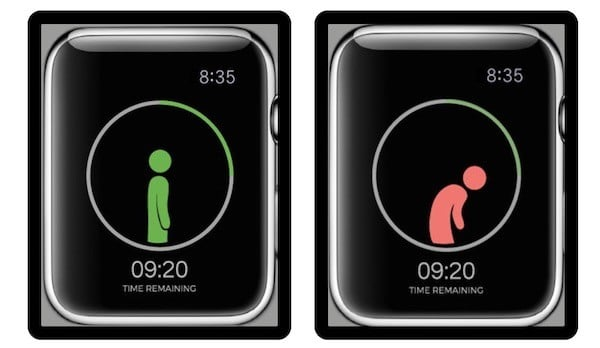 Upright Go posture alert connects apple watch
