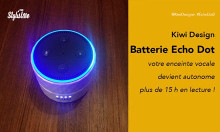 Batterie Amazon Echo Dot pour utiliser l'enceinte Alexa sans fil