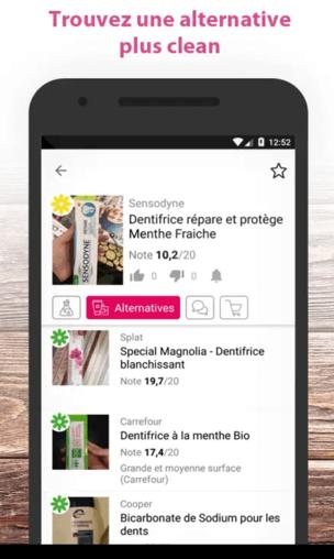best beauty app analyse comestique