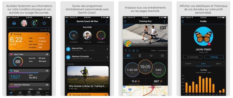 Garmin Fenix 5 Plus prix avis test app mobile garmin Connect
