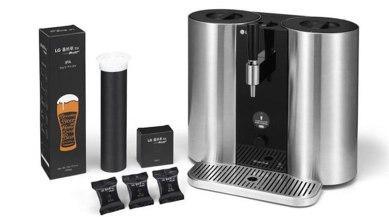 LG HomeBrew avis prix test design machine a biere capsule