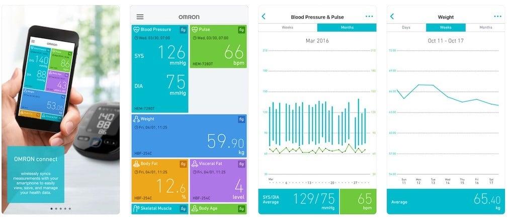 Omron tensiomètre connecté utilisable avec Alexa ou smartphone app Omron connect