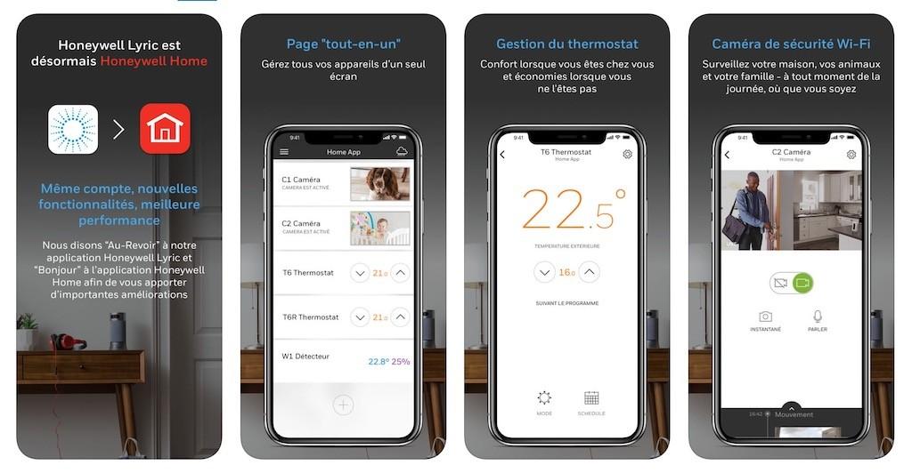 Thermostat Honeywell T9 avec sonde de température prix avis test app