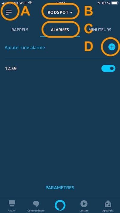 Alexa comment mettre un réveil, ajouter alarme